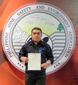 "Inspector's Award. SEDC safety engineer Joel A. Sombelon also earned the merit as ""Best Surface Safety Inspector."""