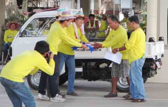 Minicab. Taiheiyo Cement Philippines, Inc. (TCPI) and Solid Earth Development Corp. (SEDC) donated this minicab to assist Luknay residents in collecting garbage and disposing them properly.