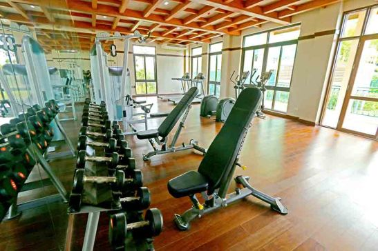 AMALFI, the fitness gym at the 2nd floor of the grand clubhouse.