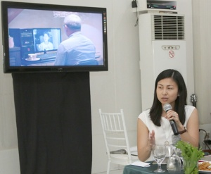 "Sales & Marketing manager Michele D. Chiu-Bacungan points out the relevance of ""Always There"" to homeowners."