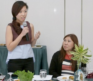 "Managing Director Frances Abegail Lim (left) explains the heart and soul of ""Always There,"" as JVC EVP Norma Lims looks on."