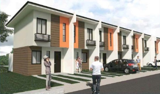 An architect's rendering of Navona townhouses.