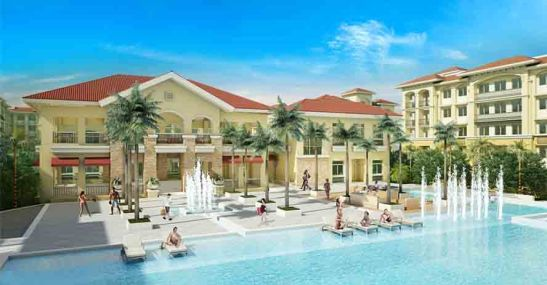 Sanremo Oasis, the clubhouse and pools.