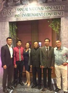 SEDC Delegation. SEDC director and chief technical adviser Hiroyuki Sakakibara (extreme left) leads the SEDC delegation that included (after him from left) pollution control officer Lester L. Canoy, human resources and administration head Mitzie Almira I. Carin, operations manager Delfin A. Campo, quality analyst Roque Louie M. Israel and community relations officer Gines T. Boltron.