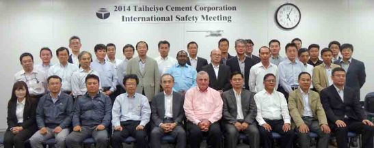 Sharing. Global Taiheiyo cement plant operations executives gather at the Taiheiyo Cement Corp. headquarters in Tokyo, Japan to share and subsequently integrate their best practices in safety and environmental management.
