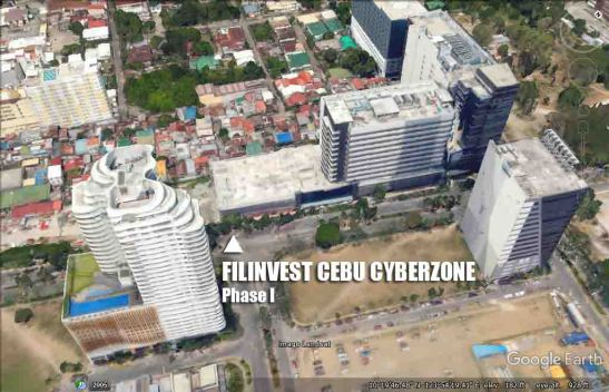 FILINVEST Cebu Cyberzone, as seen on Google Earth.