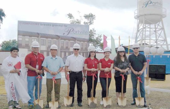 Also at the groundbreaking are (from left) Rev. Fr. Benjie Balsamo; HR manager Guy D. Gabison; project manager Allan L. Mendoza; Rio Teves, Business Development Manager for Pag-ibig Fund; finance manager Lucille D. Parcon; and sales and marketing manager Michele C. Bacungan.