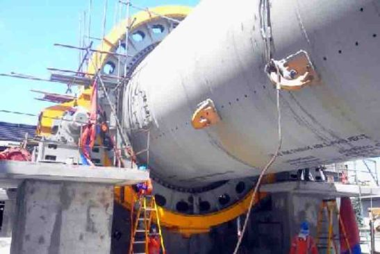 8th Finish Mill. This production facility starts to stand at the plant of Taiheiyo Cement Philippines, Inc. in San Fernando, Cebu, as engineers install the cover of its girth gear.