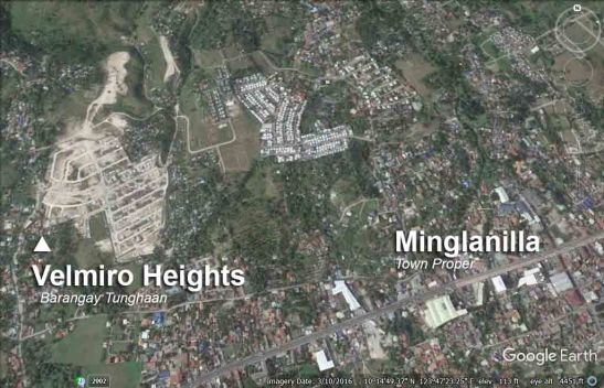 Location in Minglanilla. (Image updated on Google Earth as of March 10, 2016)