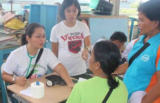 Far-flung.  Doctors attend to the medical needs of residents nine far-flung upland barangays of Pinamungahan, Cebu.